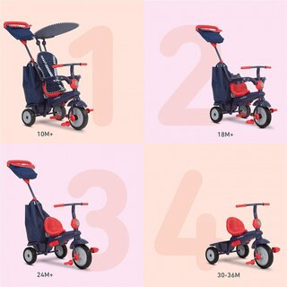 Shine Star 4-in-1 Junior Blau/Rot